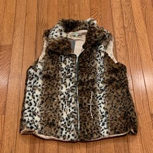 Jackets & Blazers - Leopard Print Fur Vest